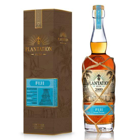 wertvolle Rarität aus dem Jahr 2009: Rum PLANTATION Fiji - Jahrgang 2009 - ONE-TIME Limited Edition, im Etui / Geschenkschachtel