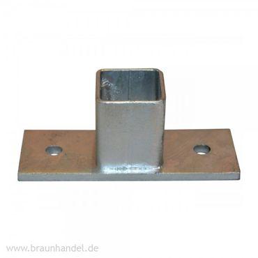 Fußadapter T-Form für Balkonstütze Stahl verzinkt
