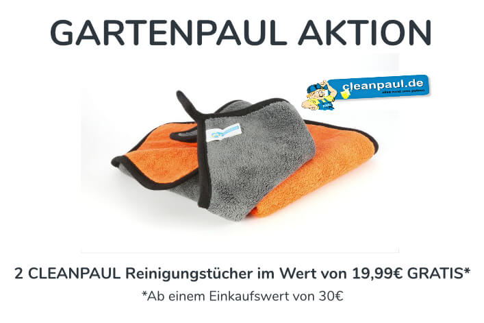 Cleanpaul 2er Set Reinigungstücher | Mikrofasertücher Orange | 30 x 30cm