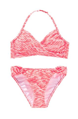 Venice Beach Marken-Kinder-Bikini, lobster-weiß