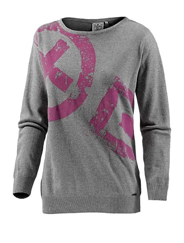 finest selection 10587 6f8aa Details zu Chiemsee Damen Marken-Pullover, grau meliert