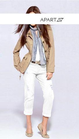 Apart Damen Jeans, weiß