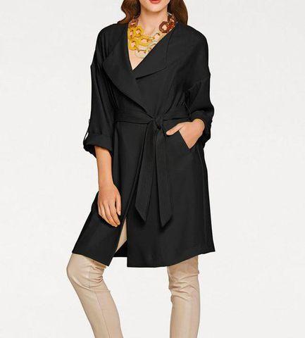 Ashley Brooke Damen Designer-Kurzmantel, schwarz