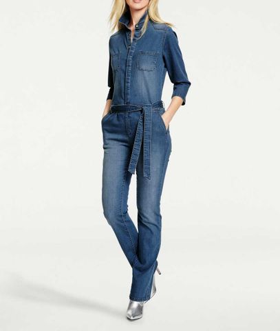 Heine - Best Connections Damen Jeans-Overall, blau
