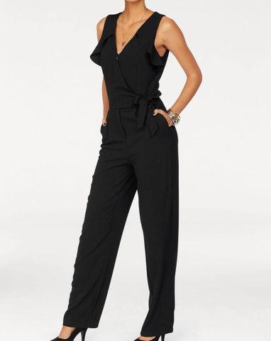 Pepe Jeans Damen Marken-Overall, schwarz