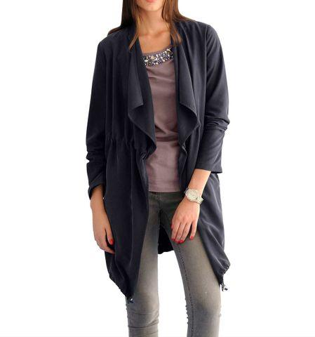 Alba Moda Damen Designer-Mantel, dunkelblau