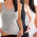Damen Longshirt Rundhalsausschnitt verschiedene Farben weiß / schwarz / grau