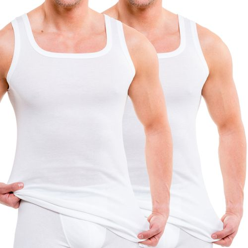 HERMKO 16025 pack of 2  men's tank top made comfortably soft thanks to modal