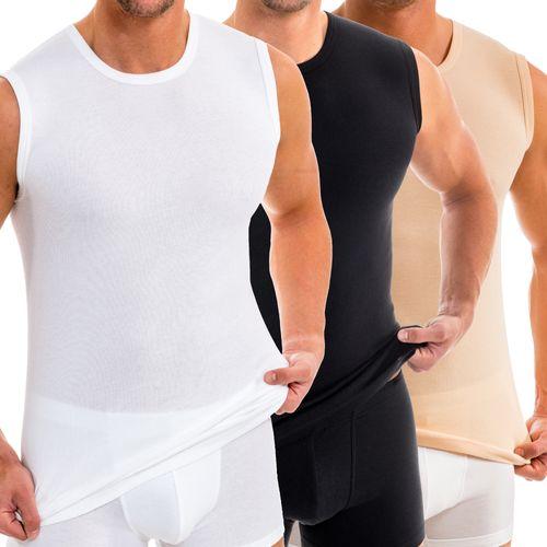 HERMKO 16040 Men's sports shirt with round neck