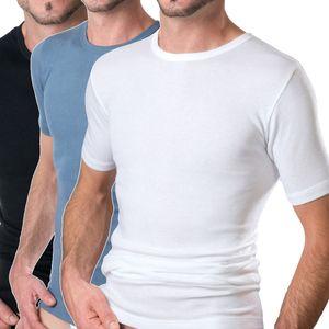 HERMKO 16800 Herren kurzarm Shirt Unterhemd mit 1/4-Arm aus Baumwolle / Modal, Halbarm T-Shirt zertifiziert nach Öko-Tex Standard 100