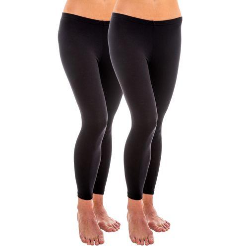 HERMKO 1720 2-pack ladies' legging in 100% cotton organic