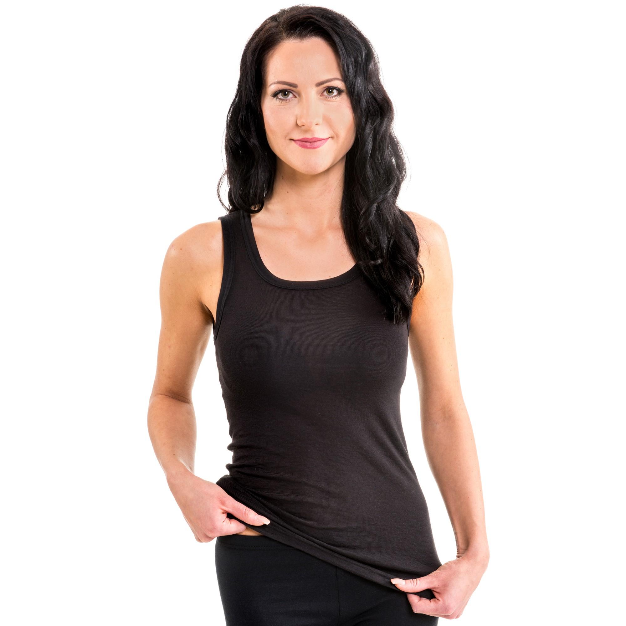 damen longshirt lady tank top shirt softfaser modal women. Black Bedroom Furniture Sets. Home Design Ideas