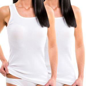 HERMKO 17338 2er Pack Damen Longshirt Doppelripp aus Baumwolle / Modal