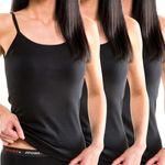 Damen Trägerhemd mit Spaghettiträger schwarz