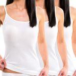 Damen Trägerhemd mit Spaghettiträger weiß