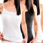 Damen Trägerhemd mit Spaghettiträger weiß oder schwarz