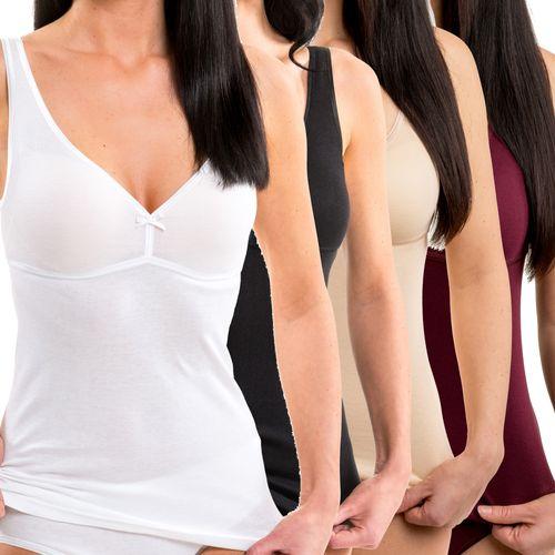 HERMKO 17580 Women's bra-top / vest with integrated bustier