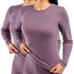 Damen langarm Funktionsunterhemd pflaume