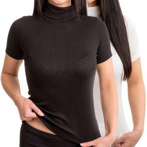 HERMKO 17855 Damen Shirt mit Rollkragen
