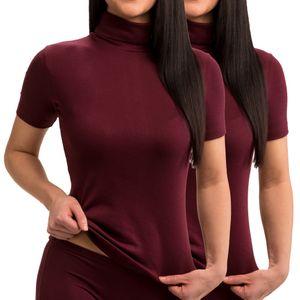 HERMKO 17855  2er Pack Damen Shirt/Blazer-Shirt mit Rollkragen – Bild 8