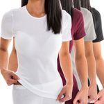 HERMKO 1800  short-sleeved vests for women, 100% bio-cotton