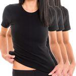 Damen Top Funktionsshirt T-Shirt schwarz 3er Pack
