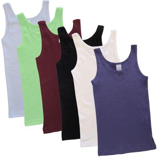 HERMKO 2000  girls' tank top vest in 100% organic cotton,