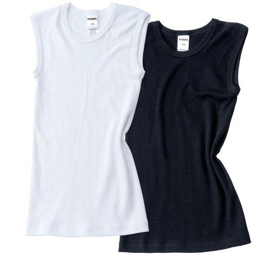 HERMKO 2040 boys' vest, bio-cotton