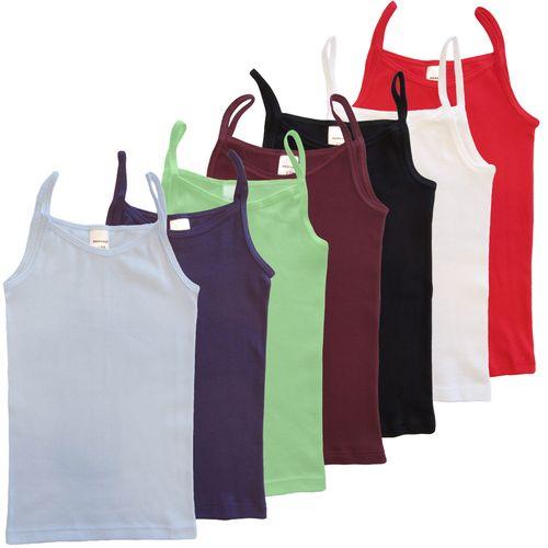 HERMKO 2460  girls' camisole vest, spaghetti top of 100% cotton made in EU, bio-cotton