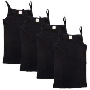 HERMKO 2460 4er Pack Mädchen Träger Top Unterhemd – Bild 1