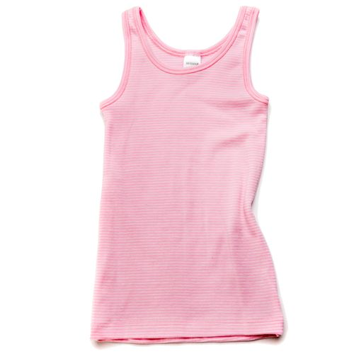 HERMKO 26000 Girls' tank top vest, made from 67% cotton + 33% polyester
