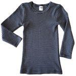 HERMKO 2683005 Kinder langarm Thermo - Shirt in Ringeloptik