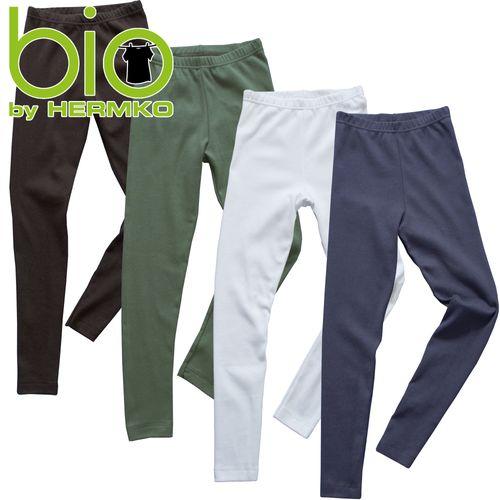 HERMKO 2720 leggings for boys/girls, 100% bio-cotton