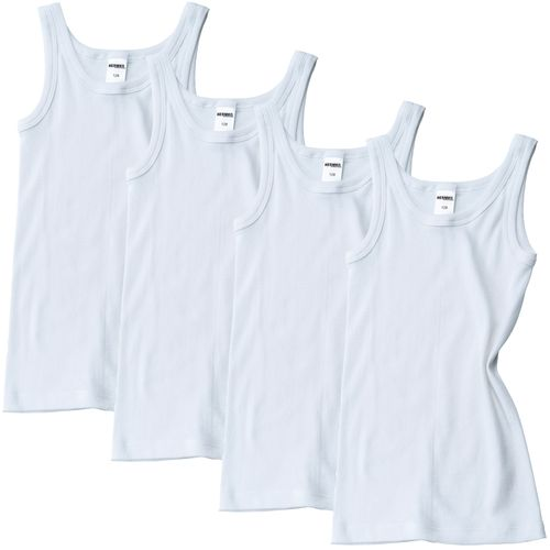HERMKO 2800 pack of 4 boys' vest made of 100%  bio-cotton, tank top direct from the factory