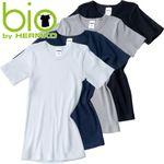 HERMKO 2810 Kinder halbarm Shirt aus 100% Bio-Baumwolle, kurzarm Unterhemd für Mädchen und Knaben
