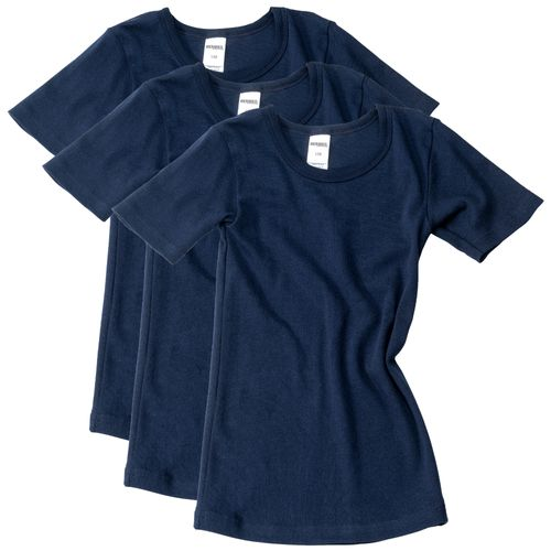 HERMKO 2810 - 3 kids short sleeve shirts made out of bio-cotton for boys + girls