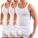 HERMKO 3000 - pack of  3 men's tank top of 100% bio-cotton