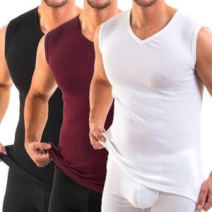 3050 Herren Muskelshirt V-Neck exclusive by HERMKO aus 100% Baumwolle Atlethic Vest Unterhemd – Bild 1