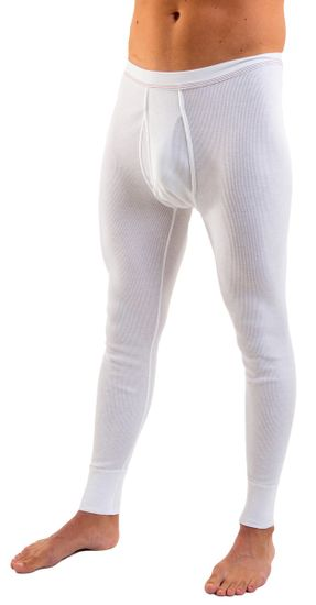 HERMKO 3542 pack of 2 long johns, organic cotton, double rib