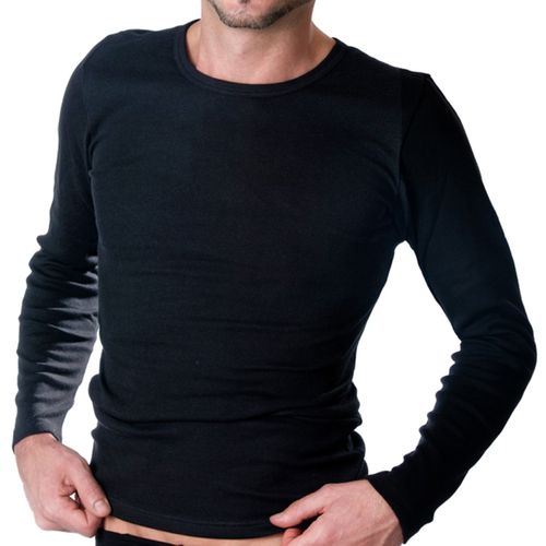 HERMKO 3640 - 2 Men's underwear long sleeve vests made of 100% organic  cotton