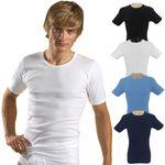 Herren kurzarm Shirt Rundhals weiß / schwarz / olive / hellblau / marine