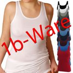 HERMKO 441310 5-pack of ladies' vest in different colours made of 100% organic cotton with minor flaws