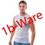 HERMKO 443040 5er Pack Herren Muskelshirts, Rundhals-Ausschnitt 1b-Ware mit kleinen Fehlern aus 100% Bio-Baumwolle