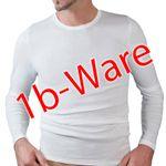 HERMKO 443640 3er Pack Herren Langarmshirt 1b-Ware mit kleinen Fehlern aus 100% Bio-Baumwolle