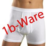 HERMKO 443940 5-pack of men's high-waist trunks with fly and short leg, with minor flaws made of 100% organic cotton