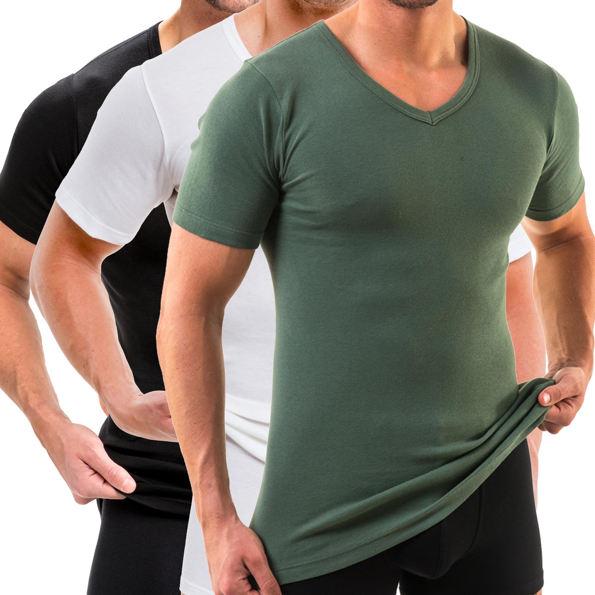 HERMKO 4880 3er Pack Herren kurzarm Shirt mit V-Ausschnitt   HERMKO ... 49eeeea43c