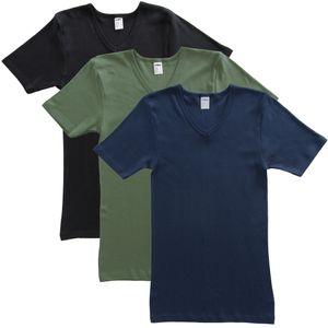 HERMKO 4880 3er Pack Herren kurzarm Shirt mit V-Ausschnitt – Bild 6