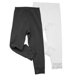 HERMKO 52722 Mädchen Capri-Leggings mit Raschelspitze – Bild 1