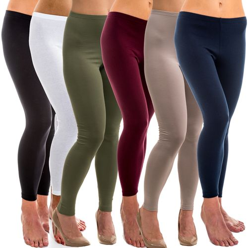 HERMKO 5720 Ladies' cotton/elastin leggings
