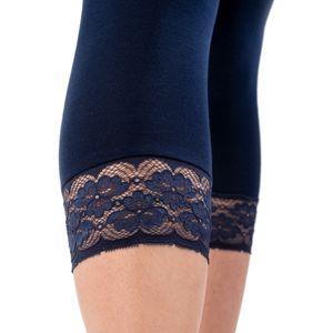 HERMKO 5722 Damen Capri- 3/4 - Leggings mit Spitze – Bild 7